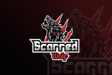 Scarred Worlf  Mascot & eSports Gaming Logo