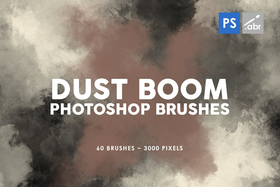 60 Dust Boom Photoshop Stamp Brushes