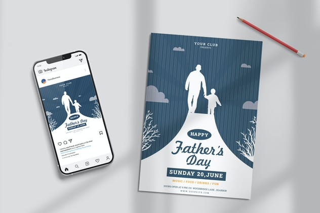 Fathers Day Party Template