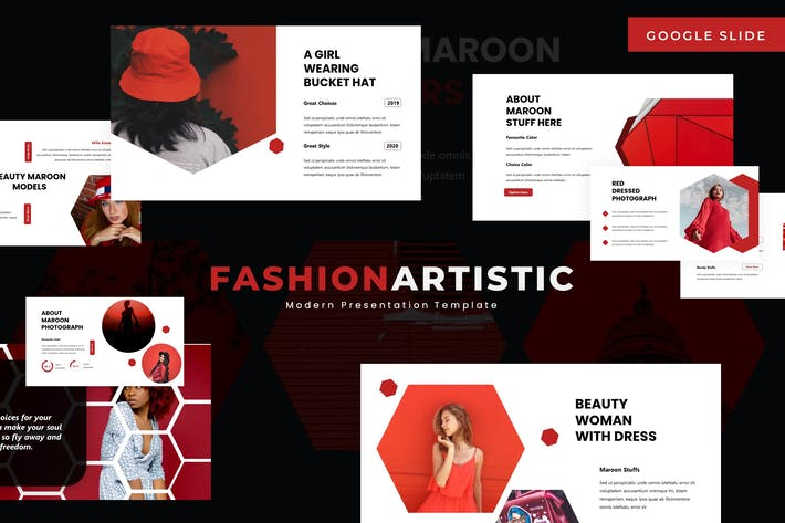 Thumbnail for Fashion Artistic - Google Slide Template