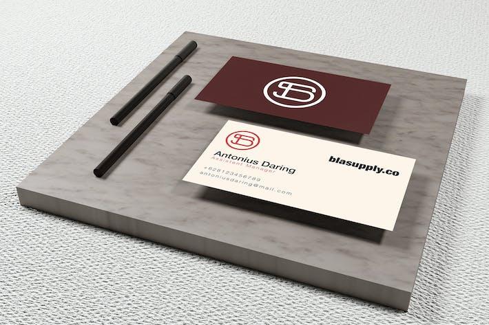 YDM Modern Business Card Mockup