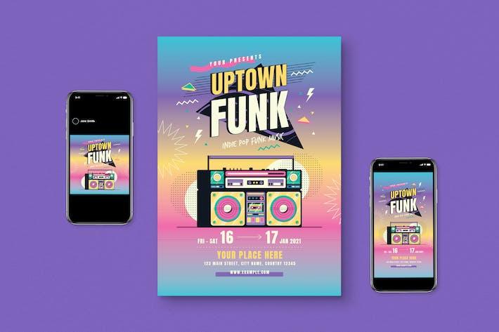 Thumbnail for 90s Music Flyer Pack