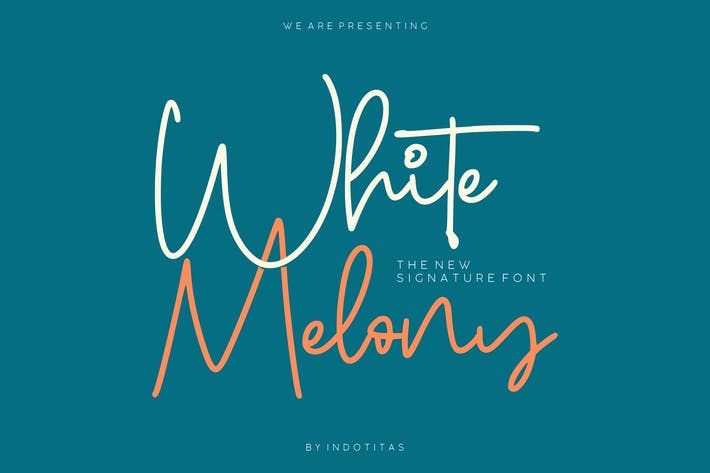Thumbnail for White Melony - New Signature Font