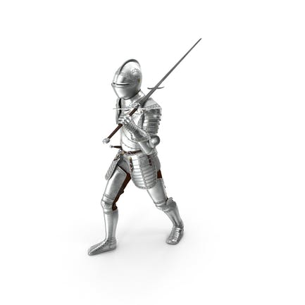 Polished Knight Plate Armor Walking Pose