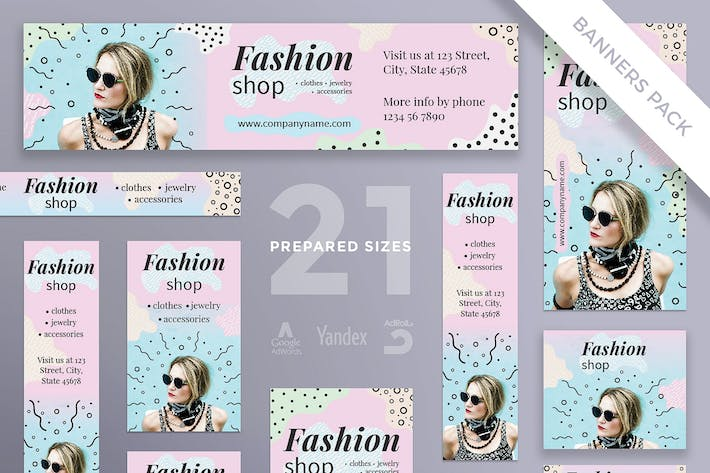 Thumbnail for Fashion Shop Banner Pack Template
