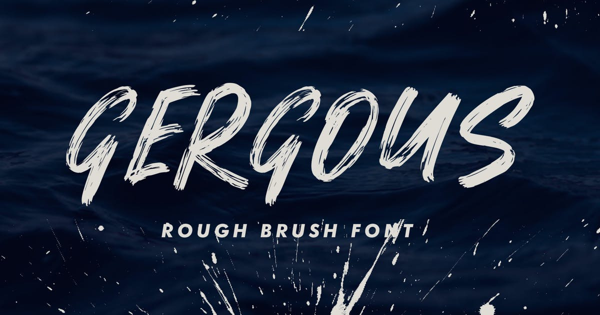 Download Gergous Brush Font by indotitas