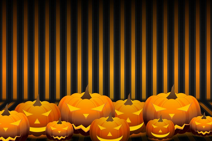 Thumbnail for Orange Halloween pumpkins background