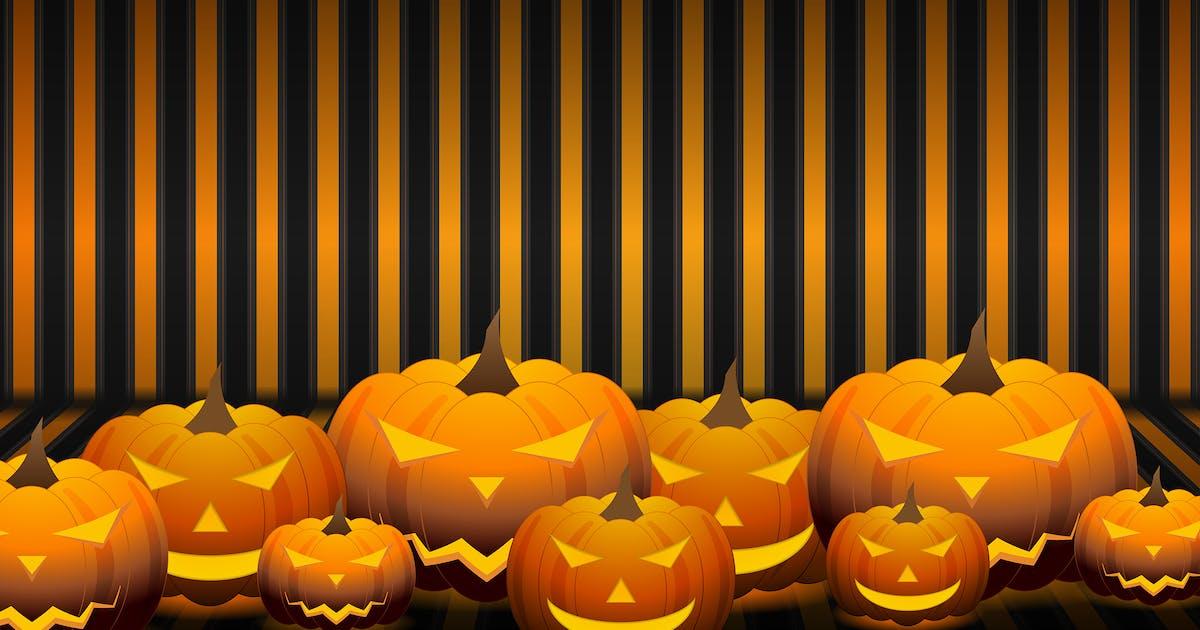 Download Orange Halloween pumpkins background by saicle