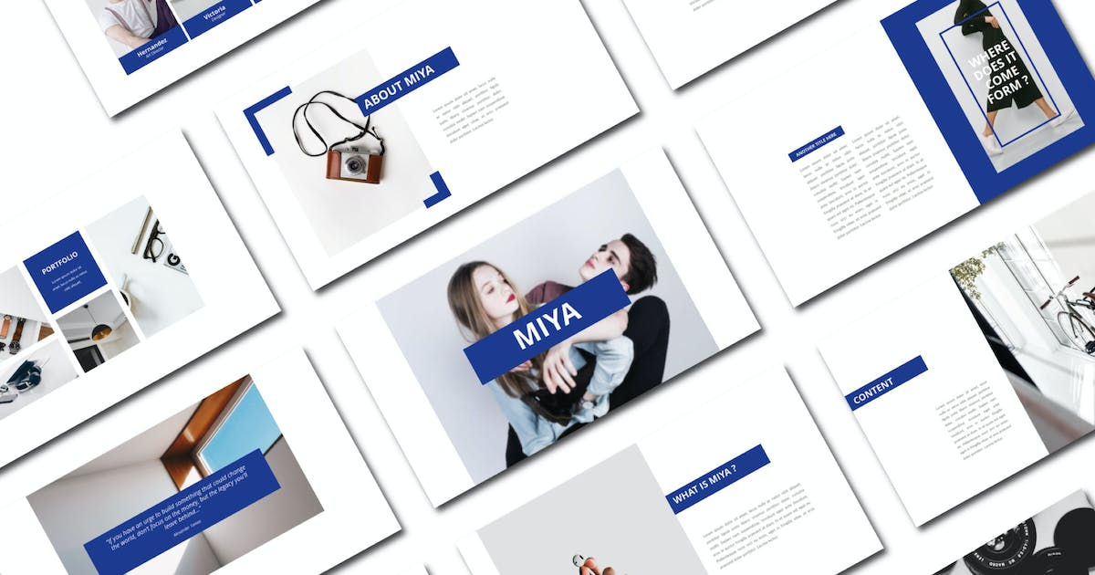 Download Miya   Powerpoint Template by amarlettering