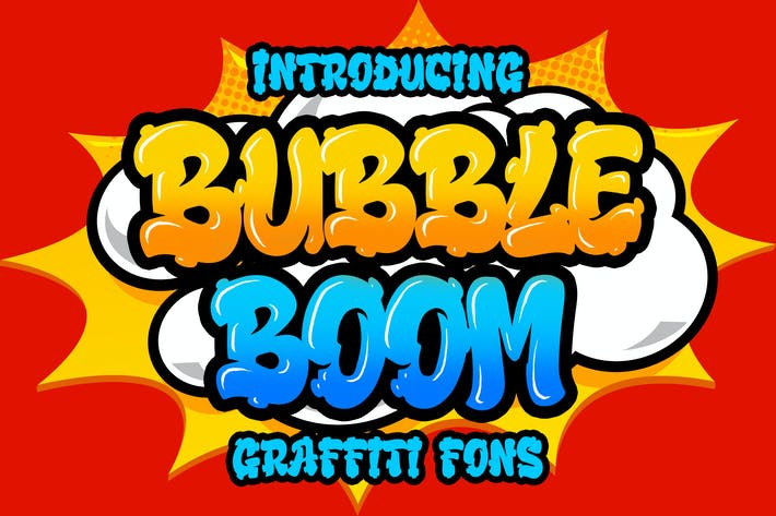 Thumbnail for Bubble Boom - Graffiti Font