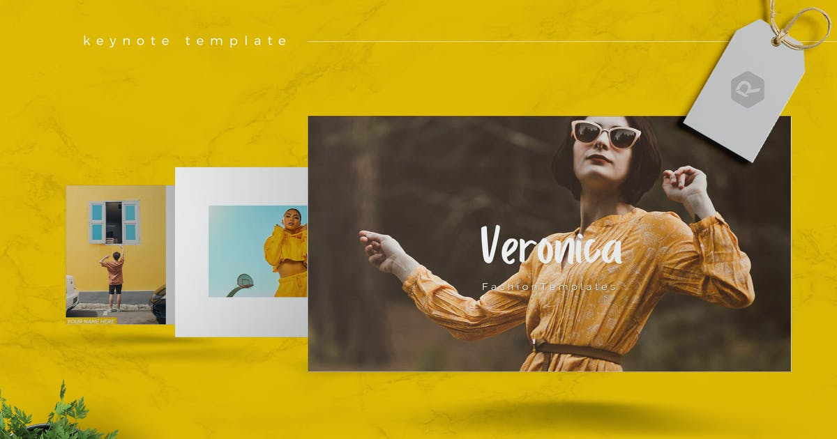 Download VERONICA - Fashion Keynote Template by RahardiCreative