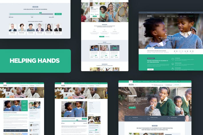 Thumbnail for Helping Hands - Charity / NonProfit HTML Template