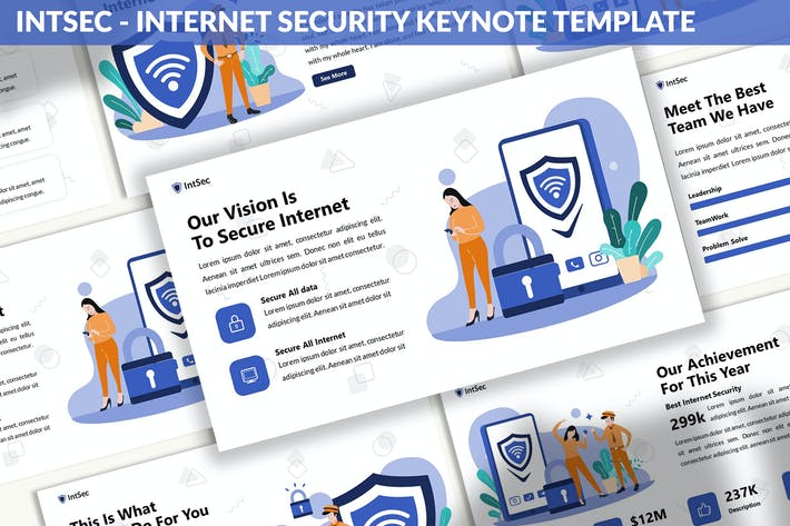 Thumbnail for Intsec - Internet Security Keynote Template