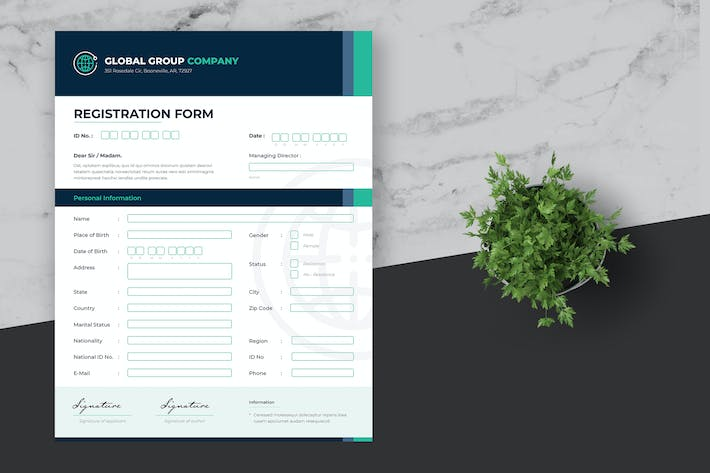 Thumbnail for Business Registration Form