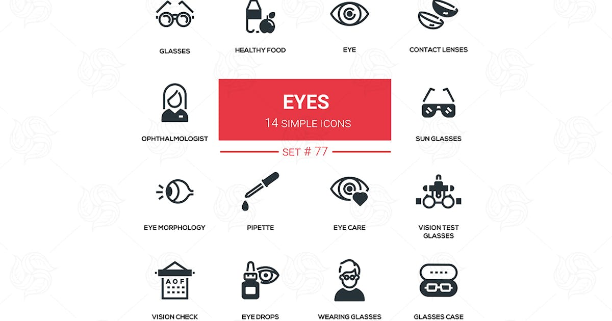 Download Eyes - line design silhouette icons set by BoykoPictures