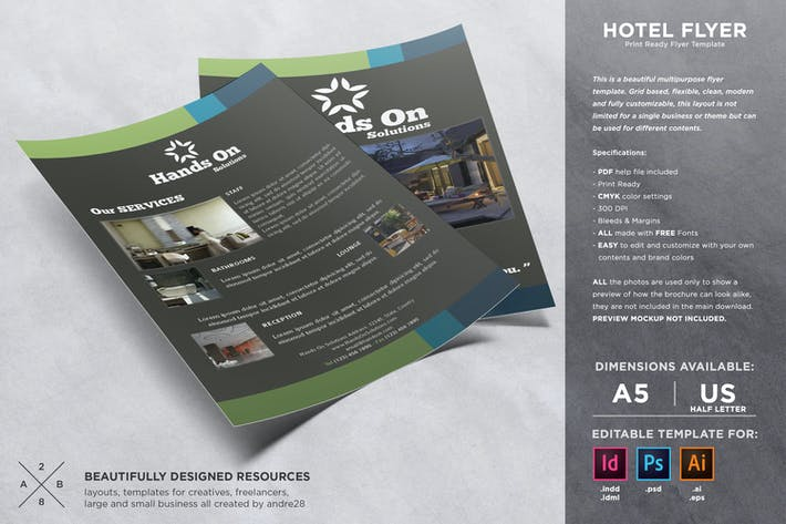 Thumbnail for Hotel Flyer Template