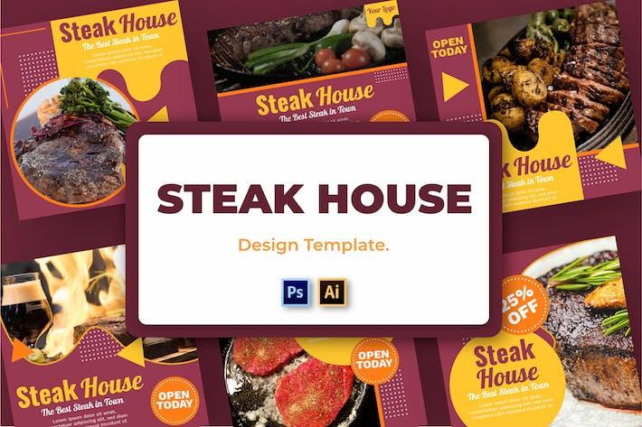 Steak Vol2 Soziale Medien Vorlage