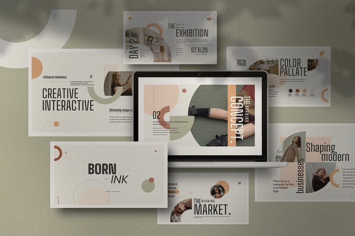 BORN - INK Creative Corporate Design Google Slide
