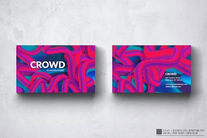 Thumbnail for The Crowd Club Business Card Design