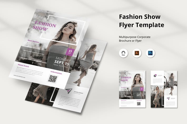 Thumbnail for Fashion Show Flyer Template