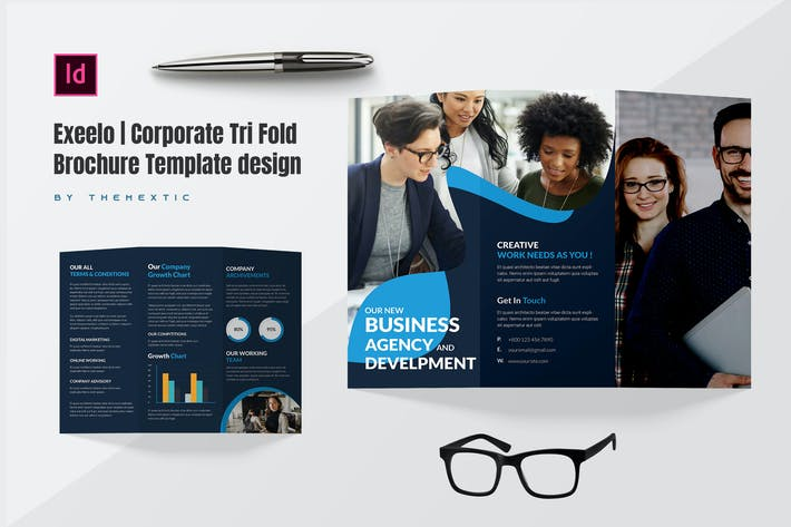 Thumbnail for Exeelo | Corporate Tri Fold Brochure Template Desi