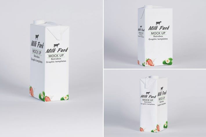 Cover Image For Milk Pack Box Mock Up