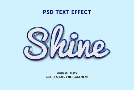 Blue shine text effect