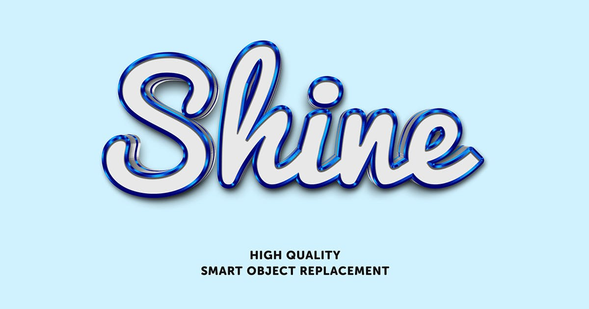 Download Blue shine text effect by wudelmbois