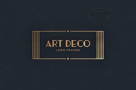 7 Art Deco Logo Frames