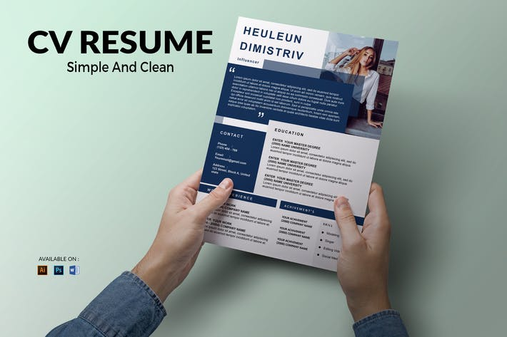 Thumbnail for CV Resume Minimal And Clean