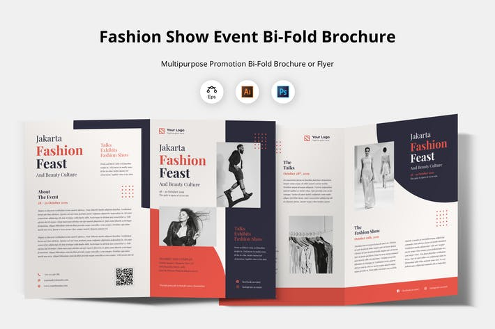 Thumbnail for Bifold Brochure Template - Event Flyer
