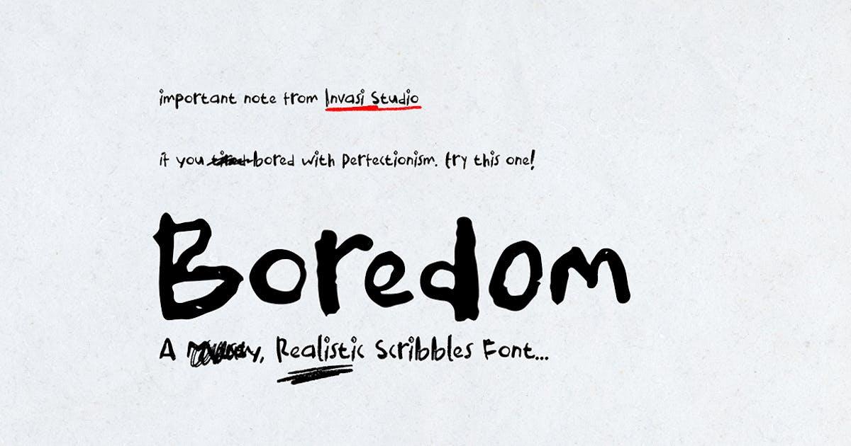 Download Boredom Handwritten Font by InvasiStudio