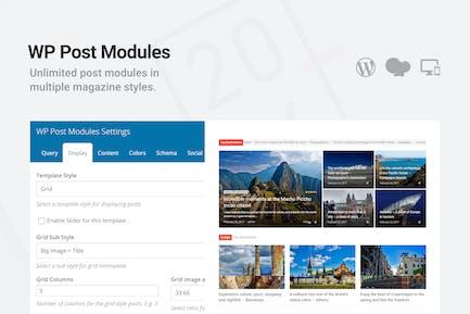 WP Post Modules for News & Magazine
