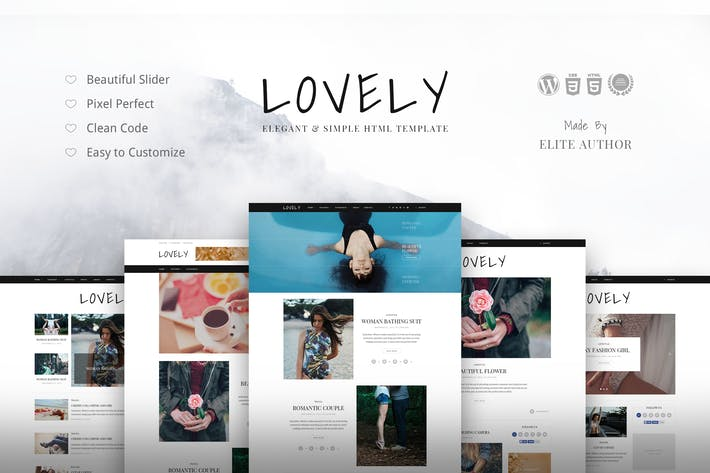 Thumbnail for Lovely - Elegant & Simple Blog Theme