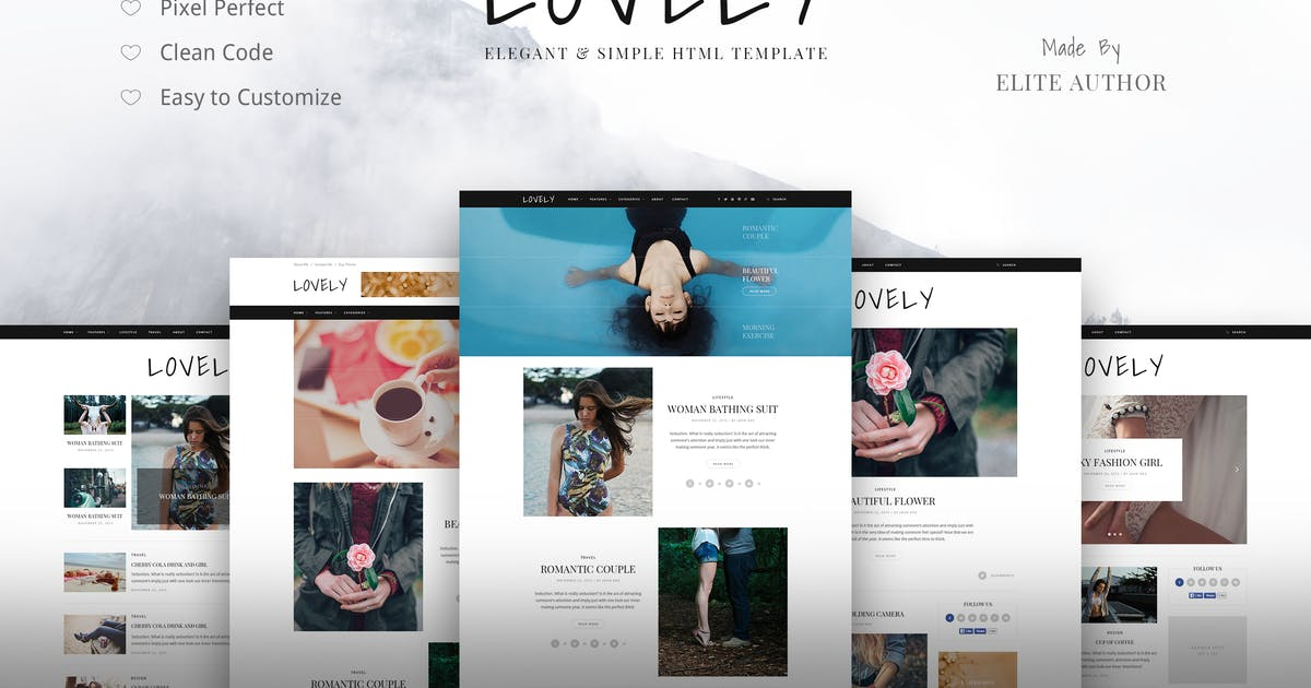 Download Lovely - Elegant & Simple Blog Theme by Themewaves