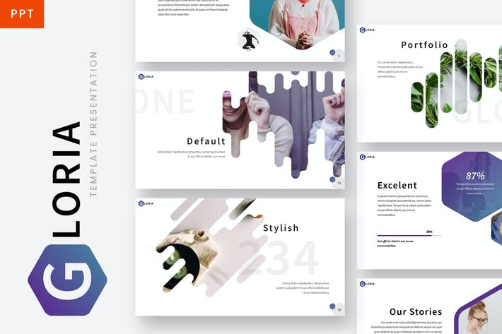 Thumbnail for Gloria - Hexagonal Powerpoint Template