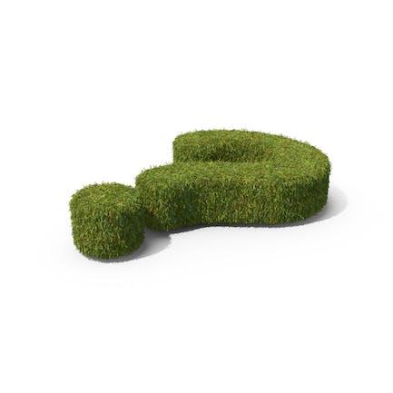 Grasfragesymbol auf dem Boden