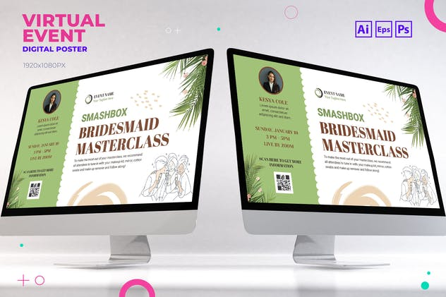 Art Class Virtual Event Digital Poster Flyer