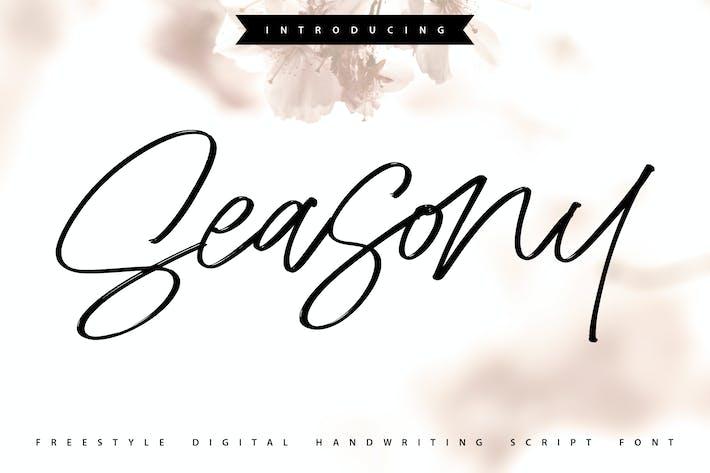 Thumbnail for Seasony | Freestyle Handwriting Scipt Font