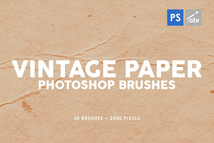 Thumbnail for 30 Vintage Paper Photoshop Stamp Brushes