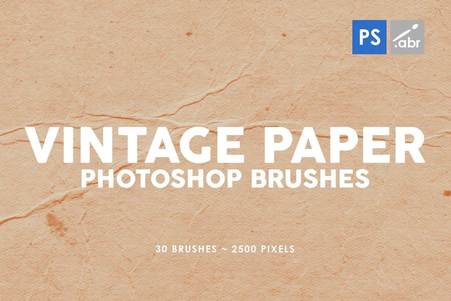 30 Vintage Paper Photoshop Stamp Brushes