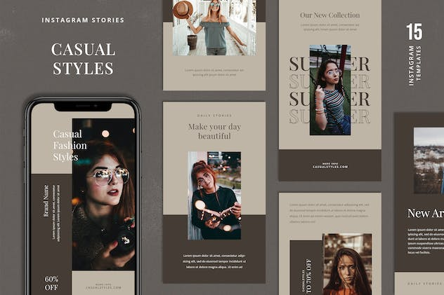 Casual Instagram Stories Template