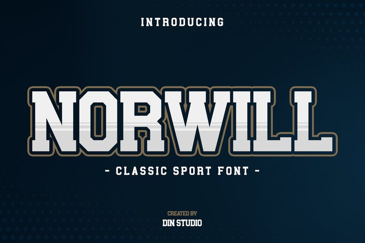 Thumbnail for Norwill-Sport Font