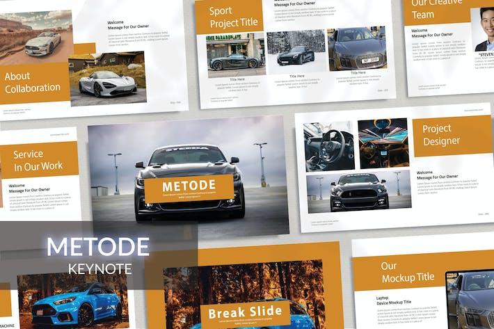Thumbnail for METODE - Автомобильный Шаблон Keynote