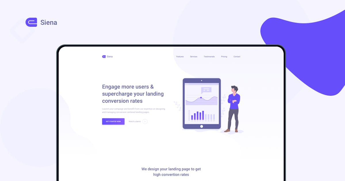 Download Siena - Marketing Landing Page Template by zytheme