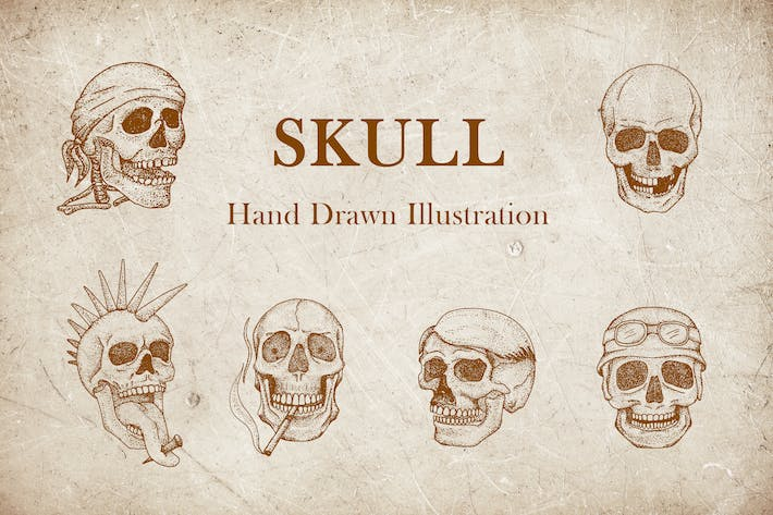 Thumbnail for Vintage Illustration - Skull