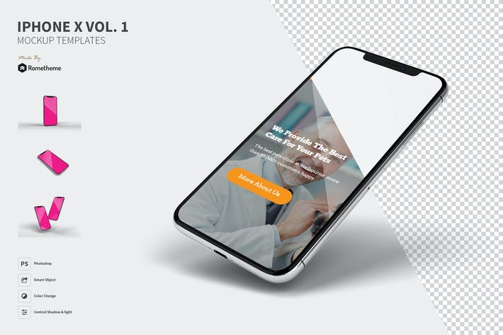 Thumbnail for Iphone X Мокапы vol.1 FH