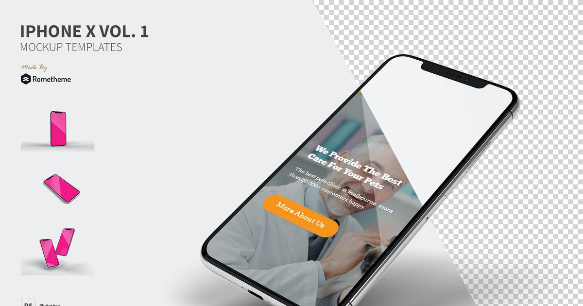 Download Iphone X Mockups vol.1 FH by Rometheme