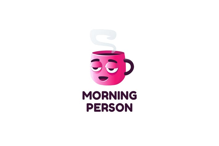 Cover Image For Morning Person - Logo Template