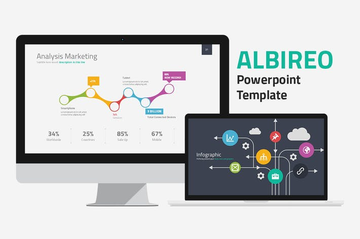 Thumbnail for Шаблон Powerpoint Albireo